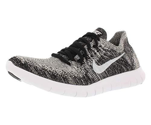 Nike Women's Free Rn Flyknit 2017 Black/White Volt Ankle-High Running Shoe - 9.5M (Nike Cross Bionic Shoes Women)