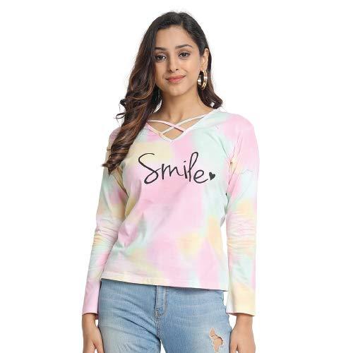 JUNEBERRY Tie Dye Regular Fit T-Shirt for Women