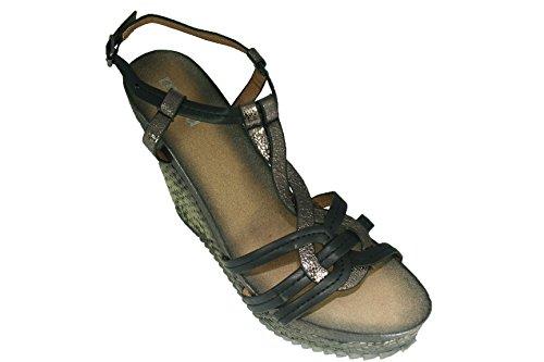 MOOW Sandales Compensées Hautes à Lanières Taille 39