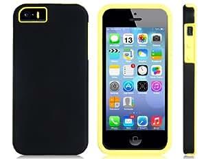 TR 2-en-1 silicona & Matte estuche protector para iPhone 5S / 5 (amarillo)