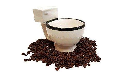 Toilet Shaped Mug, Novelty Gag Gift Mug, Ceramic Mug (Plumber Gnome)