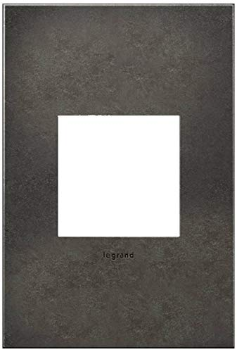 adorne Cast Metal 1-Gang Dark Burnished Pewter Wall Plate (Pewter Dimmer)