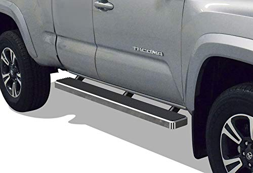 (iBoard (Silver 5 inches) Running Boards | Nerf Bars | Side Steps | Step Rails for 2005-2019 Toyota Tacoma Access Cab Pickup)