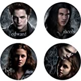 The Twilight Saga: New Moon Mini Buttons Asst. (4) Party Supplies