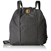 Baggallini CBP112G Mendoza Backpack - Gold Hardware, Charcoal, One Size