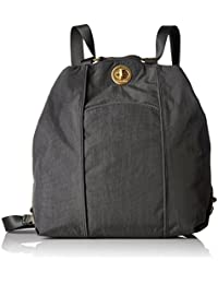 Mendoza Convertible Backpack - Convertible Travel Bag can be Used with One Strap as a Tote or Two as a Backpack, Lightweight with Zippered and Clasped Compartments