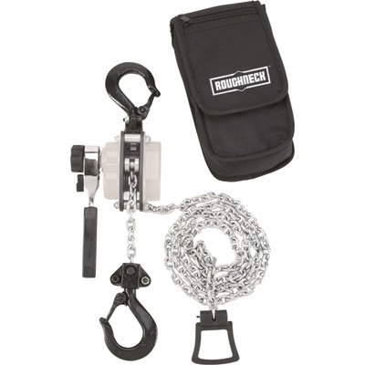 Roughneck Manual Lever Chain Hoist - 1/2-Ton Capacity, 12in. Head Room