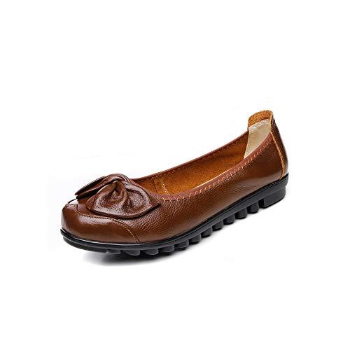 Brown Urethane APL10781 Pumps Solid BalaMasa Womens Ruched Bows Shoes 8axApqnP