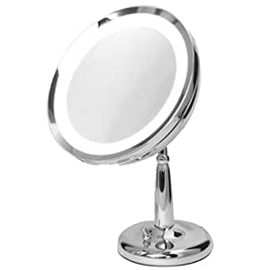 5x lighted chrome gooseneck vanity mirror health personal care. Black Bedroom Furniture Sets. Home Design Ideas