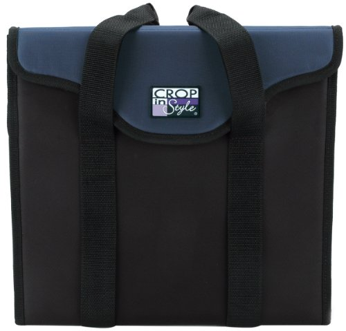 Price comparison product image Crop In Style Paper Taker Organizer Tote, Navy/Black