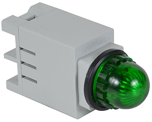 c3controls 13SBLG120ST-13GNR Indicating Light, 13mm, Green Super Bright LED, Round Green Color Lens, 120V AC/DC, Screw ()