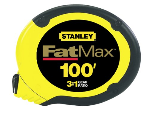 Stanley 34-130 100-Foot FatMax Long Tape Rule (Stanley Case Steel Measure Tape)