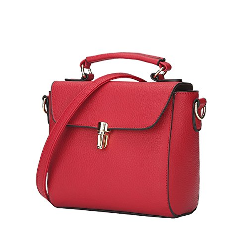 DISSA - Bolso de asas para mujer One size Rojo