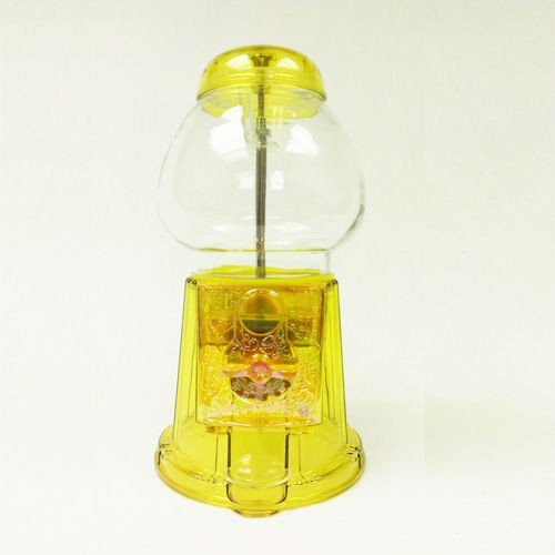 Yellow Gumball Machine Antique Style Gumball Bank and Dispenser with Free Spin (Rhino Yellow)
