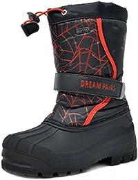 Little Kid Kamick Black Red Mid Calf Waterproof Winter Snow Boots Size 11 M US Little Kid
