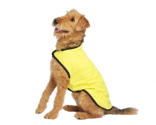Gold Paw Series Rain Paw Dog Rain Coat, Size 33, Yellow, My Pet Supplies