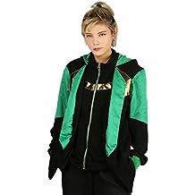 XCOSER Loki Hoodie Sweatshirt Costume for Halloween Cosplay Zipper Hoodie XL