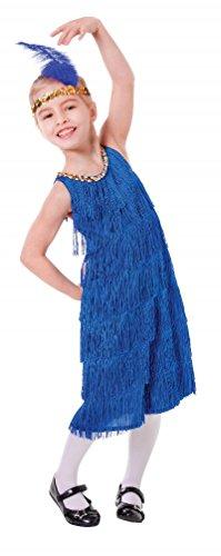 [Large Blue Girls Flapper Dress] (Blue Flapper Dress)