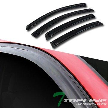 Topline Autopart Sun/Rain Dark Tint Guard Vent Shade Deflector Window Visor 4P 06-13 Chevy Impala - Impala Vent
