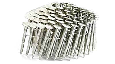 "1 3/4"" RING 304 STAINLESS COIL ROOFING NAILS 1.2M RoofPak by FastenerUSA"