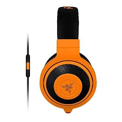 b2d940bc9f9 Amazon.com: Razer Kraken Mobile Analog Music & Gaming Headset-Neon Orange:  Computers & Accessories