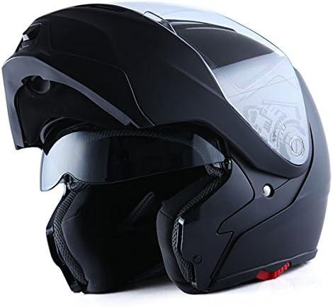 1Storm Motorcycle Street Bike Modular/Flip up Dual Visor/Sun Shield Full Face Helmet