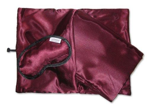 PamBee luxury travel blanket set (Bordeaux (Class Travel Blanket Set)