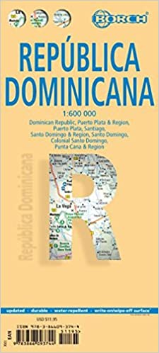 Laminated dominican republic map by borch english spanish french flip to back flip to front publicscrutiny Gallery