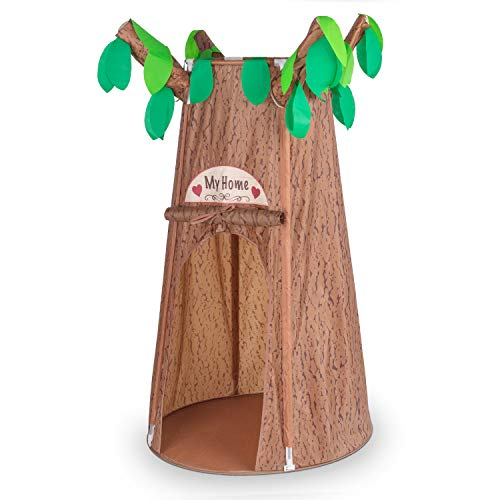 Kids Play Tent, Forest Hollow Tree House Tents for Girl, Boy Pretend Play Game, Portable Easy Assemble Folding Tent with Carrying Bag (59