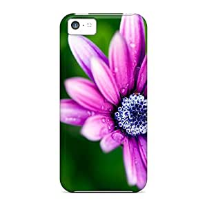 Excellent Iphone 5c Case Tpu Cover Back Skin Protector Wet Daisy