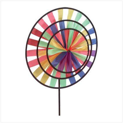 Multicolor Triple Kaleidoscope Wind Wheel Pinwheel
