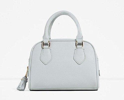 Korean tide Womens handbag shoulder solid matte shell bag portable leather Ladies handbag