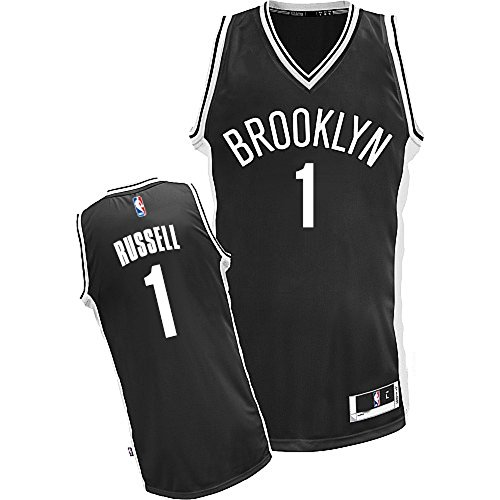 OuterStuff D'Angelo Russell Brooklyn Nets NBA Youth Black Road Replica Jersey – Sports Center Store