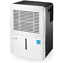 Ivation 30 Pint Energy Star Dehumidifier - For Spaces Up To 2,000 Sq Ft - Includes Programmable Humidistat, Hose Connector, Auto Shutoff / Restart, Casters & Washable Air Filter (30 Pint),White