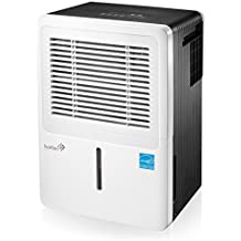 Ivation 50-Pint Energy Star Dehumidifier - For Spaces Up To 3,000 Sq Ft - Includes Programmable Humidistat, Hose Connector, Auto Shutoff / Restart, Casters & Washable Air Filter (50 Pint)