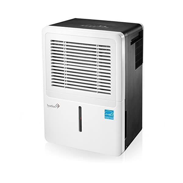 Ivation Energy Star Dehumidifier – Includes Programmable Humidistat, Hose Connector, Auto Shutoff/Restart, Casters & Washable Air Filter