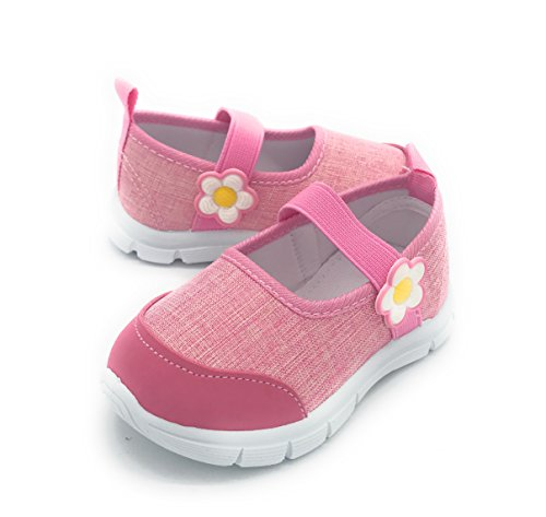 Blue Berry EASY21 Girl Shoes Fashion Comfy Cute Baby Toddler Sneakers (4 M US Toddler, 1211PINK)