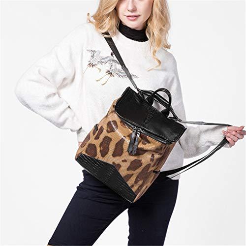 Bag Hiyfbag Bag Women Leather Backpack Brown Shoulder awwqFC