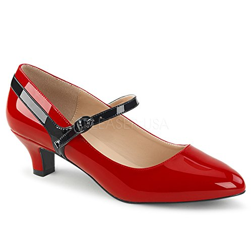 omen's Fab425/r-b Dress Pump, Red-Blk Patent, 9 M US (Red Patent Pumps)