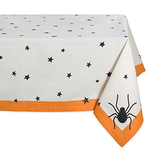 DII 100% Cotton, Machine Washable, Printed Halloween Tablecloth 60 x 104
