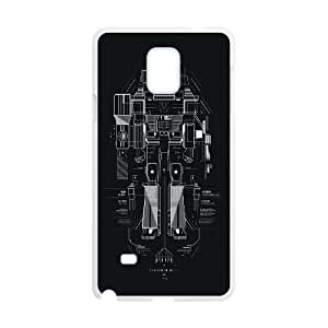 Samsung Galaxy Note 4 Cell Phone Case White_Transformer Vector Vmrde