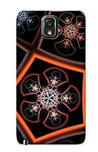 Fashionable SUvWAWk1235WTNne Galaxy Note 3 Case Cover For Fractal Flower Pattern Protective Case With Design