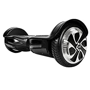 App-Enabled HOVERZON XLS Series Bluetooth Hoverboard with Speakers Self Balance Scooter; Dual Power 250W Motor (Black_