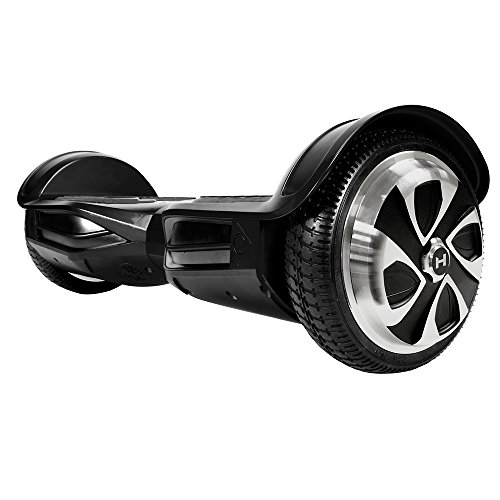 Electric Co Axle - HOVERZON App-Enabled XLS Series Bluetooth Hoverboard with Speakers Self Balance Scooter; Dual Power 250W Motor (Black_