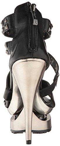 Highest Polyurethane Heel 11 Black Women's Soft Rockin The Sandal zdngw8zq