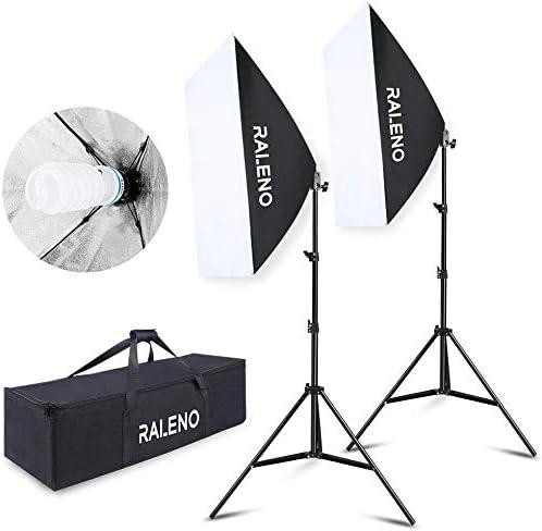 RALENO Softbox Photography Lighting Kit