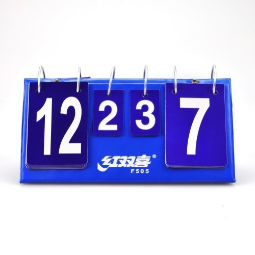 DHS F505 Portable Flip Table Tennis Scoreboard, Ping Pong Scorekeeper by DHS by DHS