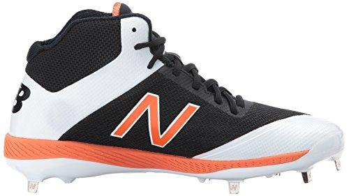 New Balance Herren M4040v4 Metall Baseball-Schuh Schwarz / Orange