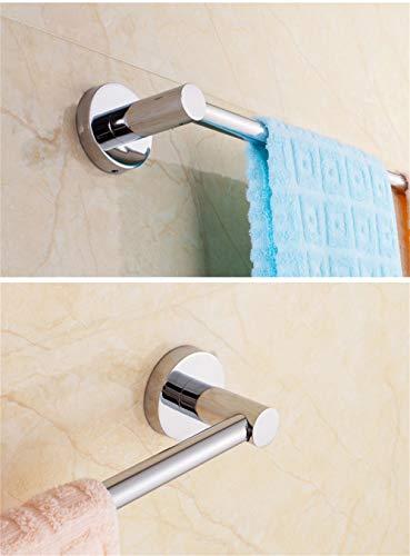 ZJWZ Bathroom Towel Rack 304 Stainless Steel Single Pole Long Bathroom Towel Hanging Rack,80cm