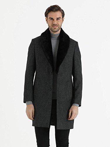 Charcoal Shadow Plaid (Plaid Overcoat)